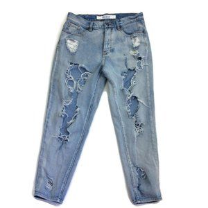 Brandy Melville Destroyed Jeans High Rise Tapered